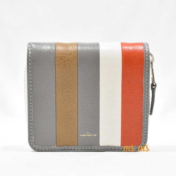 Balenciaga Handbags - NWT Balenciaga Striped leather Billfold Zip